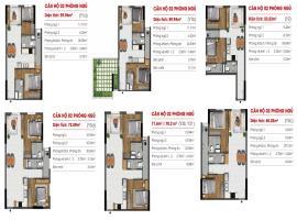 Căn hộ 02 phòng ngủ Y1A, Y3C tại dự án Marina Rive