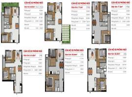 Căn hộ 02 phòng ngủ Y3C1, Y6 tại dự án Marina Rive