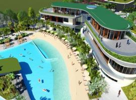 Bể bơi tại dự án Biệt thự đồi Thủy Sản