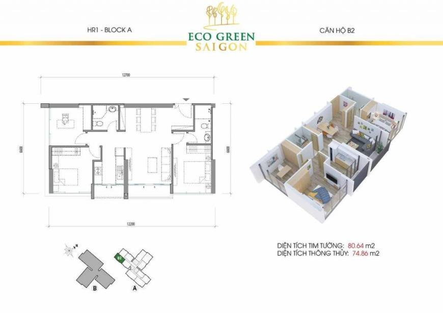 B2 Căn hộ Eco Green Saigon