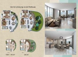 Thiết kế căn hộ 3 phòng ngủ tại dự án Wateway