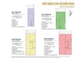 Mặt bằng căn hộ điển hình tại dự án Condotel Quy N