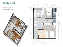 Mặt bằng căn 65m2 chung cư Picity High Park