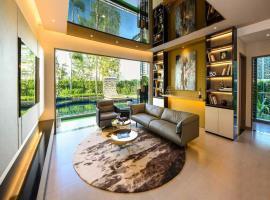 Phòng khách dự án D'lusso Emerald