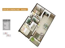 Căn hộ 2 phòng ngủ 69.8m2