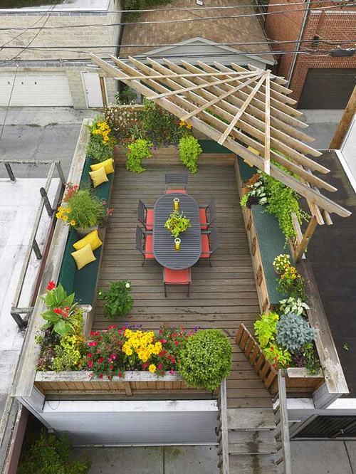 Giải pháp xanh  cho nhà phố: 1001 cách tận dụng sân thượng