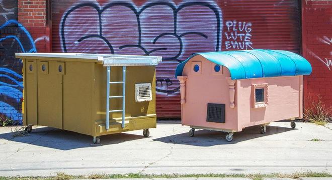 Nhà di động tý hon cho người vô gia cư